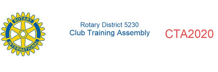 Online-only Rotary District 5230 Club Training Assembly (CTA) 2020